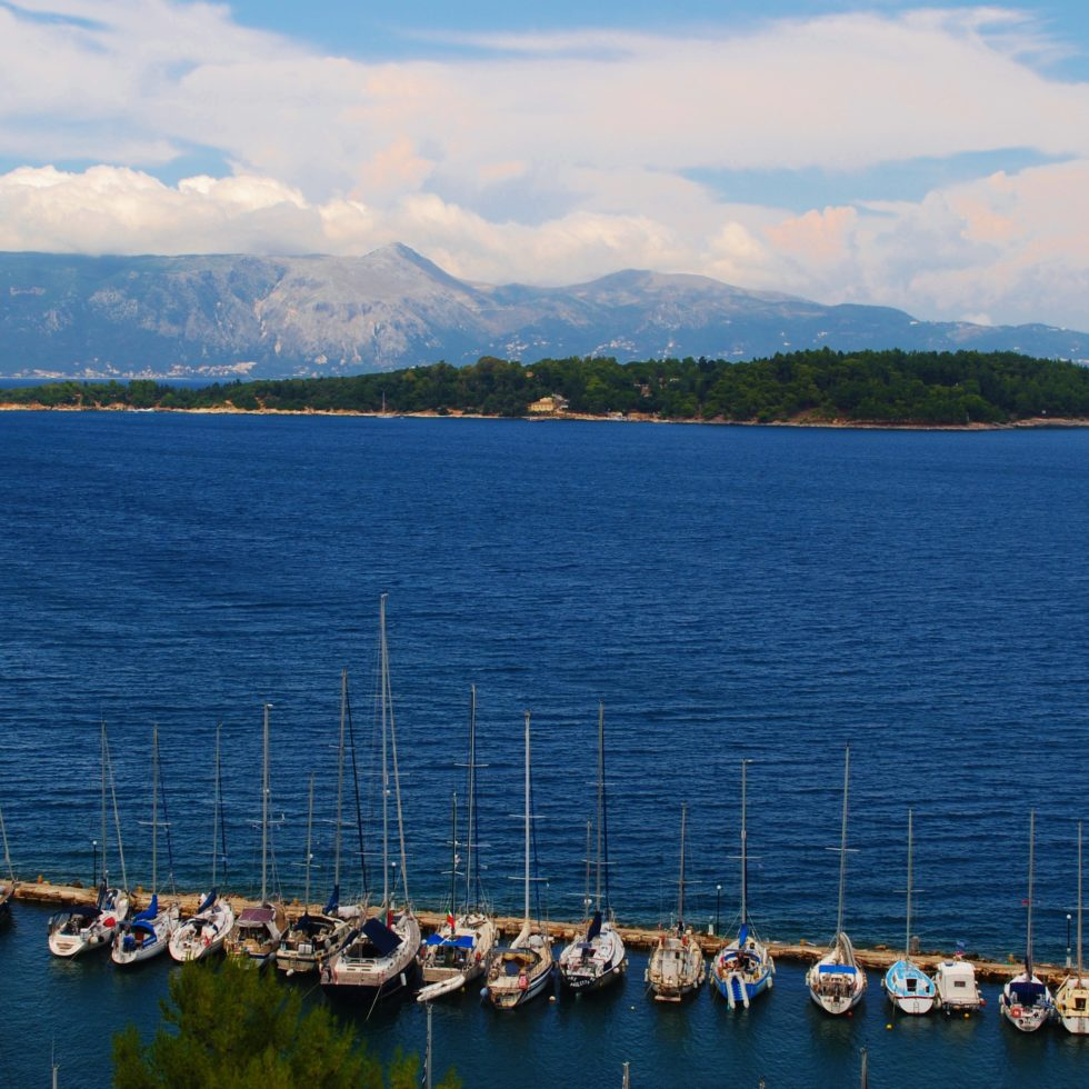 grecia corfù vista mare