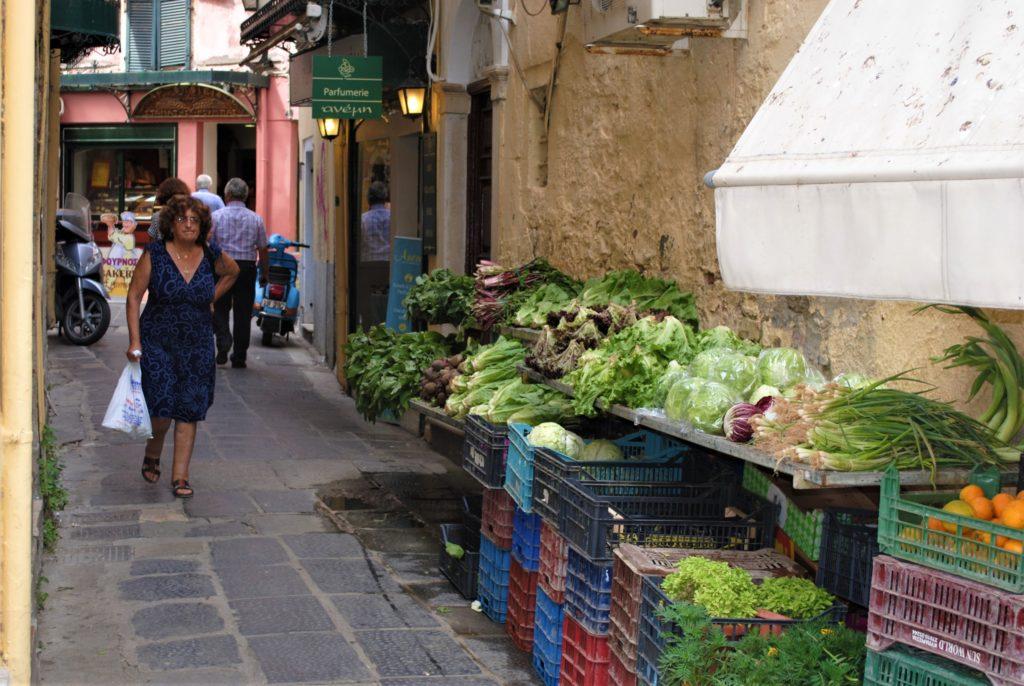 grecia corfù cantounia verdure