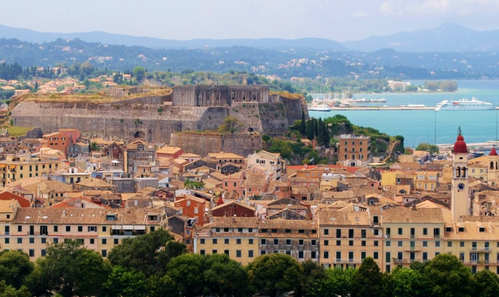 grecia corfù vista panoramica da fortezza vecchia