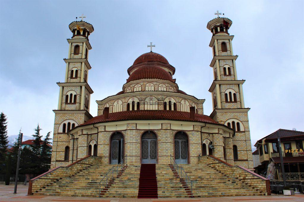 albania korça cattedrale resurrezione ortodossa