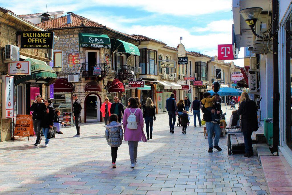 macedonia ohrid quartiere turco old bazar street