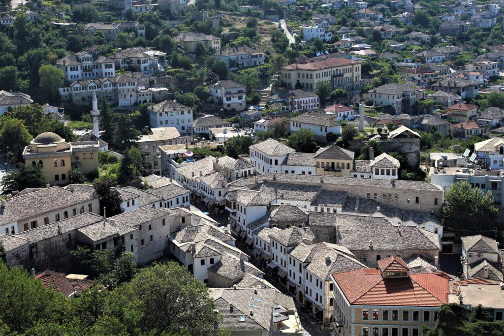 albania girocastro vista dei tetti dal castello