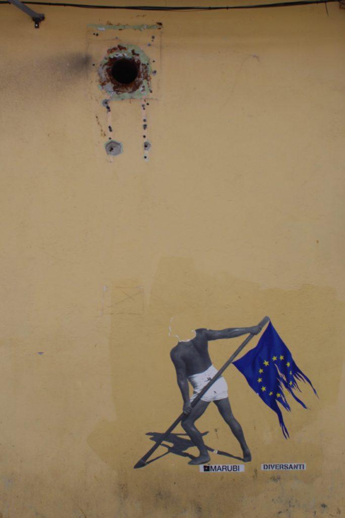 albania scutari street art diver santi